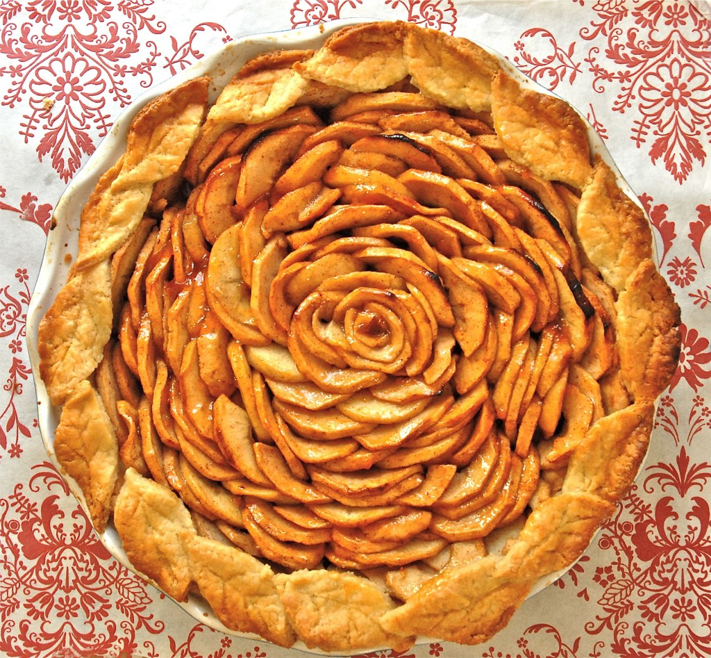 open-faced apple pie